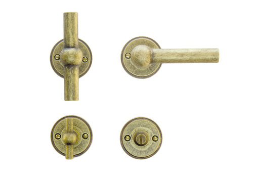 door handles Petana T+L old yellow with WC