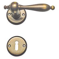 Deurklinken Natalie brons met sleutelplaatjes