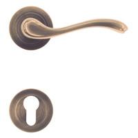 deurklinken Erica brons met cilinderplaatjes