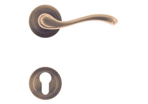 Door handles Erica bronze with PZ