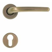 deurklinken Lilla brons met cilinderplaatjes