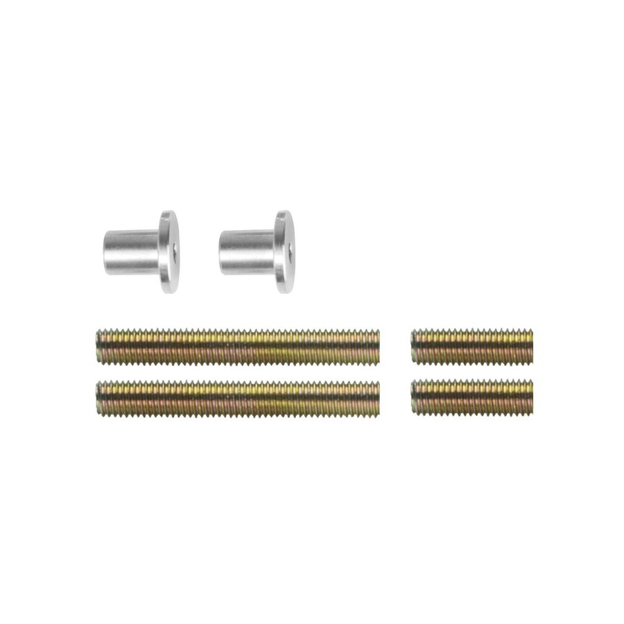 Bevestigingsset H doorgaand enkelzijdige montage voor hout / pvc / alu deurdikte 25-65mm
