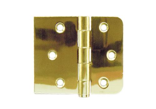 Kogelscharnier rechte en afgeronde hoek koper-titanium 80x94x2mm