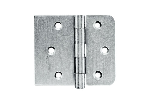 Ball joint straight and rounded corner Old Silver 80x94x2mm