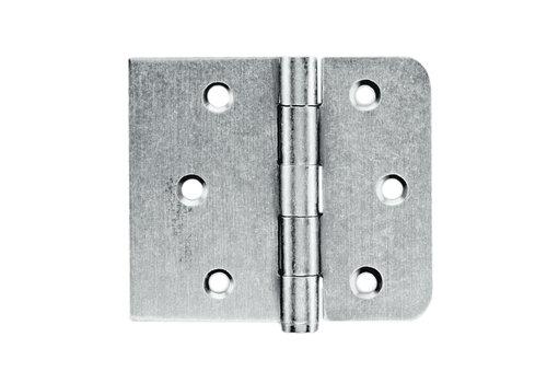 Kogelscharnier rechte en afgeronde hoek Old Silver 80x94x2mm