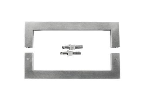 "Stainless steel door handles ""Cubica"" U 25/250 pair for glass"
