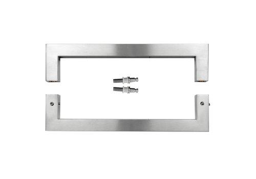 "Stainless steel door handles ""Cubica"" U 25/300 pair for glass"