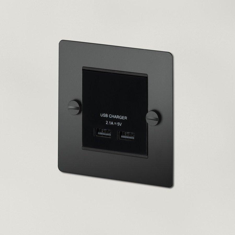 Zwarte USB lader / 1G / Buster+Punch