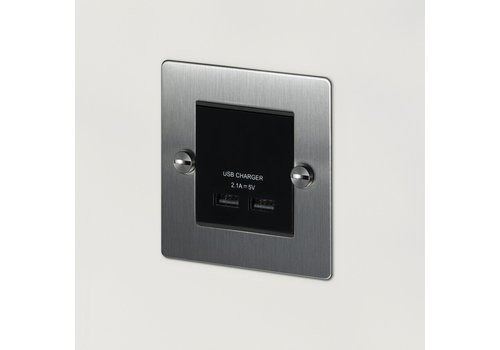 1G USB-Ladegerät / Stahl