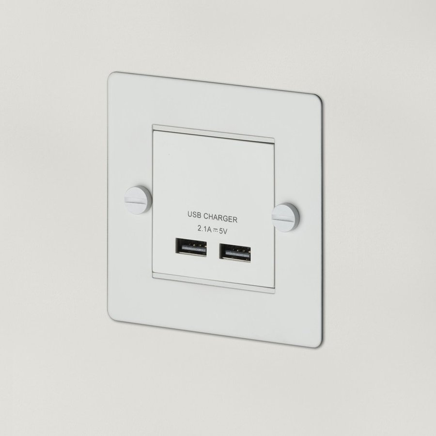 White USB charger / 1G / Buster+Punch