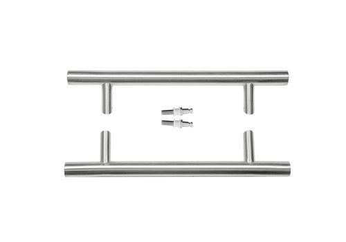 Stainless steel door handles ST 32/300/460 pair for glass