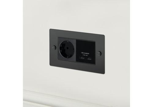 2G USB-Ladegerät und -Buchse / Schwarz