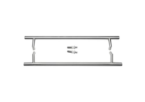 """Stainless steel door handles """"STCOT"""" 32/650/810 pair for glass"""