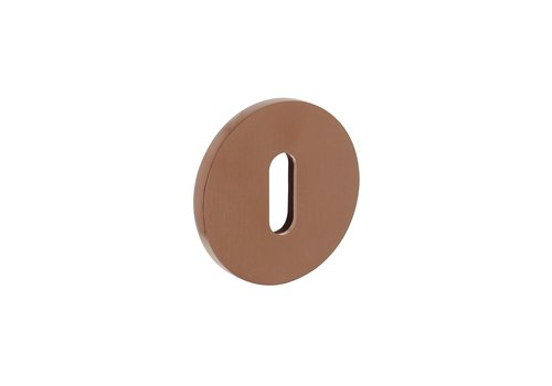 1 Olivari rosette round with keyhole copper matt titanium PVD