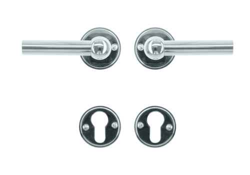 Door handles Petana L+L nickel with PZ
