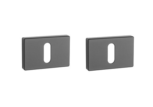 Black rectangular key plates