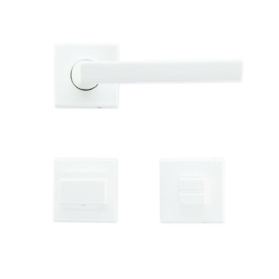 Witte deurklinken Luïs met WC garnituur
