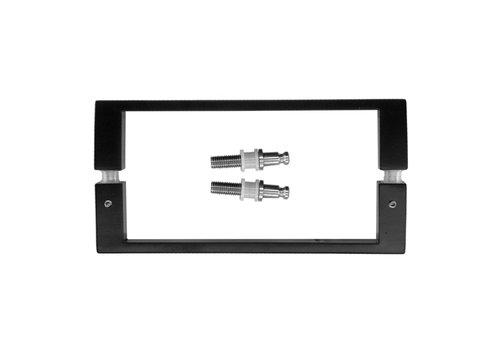 """Black door handles """"Cosmic"""" U 20/200 pair for glass"""