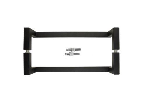 """Poignée de porte noire """"Square"""" D20/90/300 paire pour verre"""