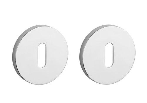 Key plates Aprile Chrome polished Ø 52x7mm