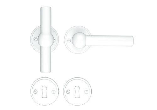 White door handles Petana T+L with BB