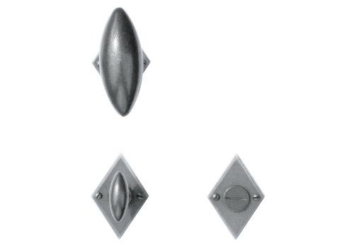 Poignées de porte en fer Diamant olive avec WC