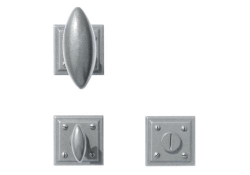 Poignées de porte en fer Olive carre avec WC