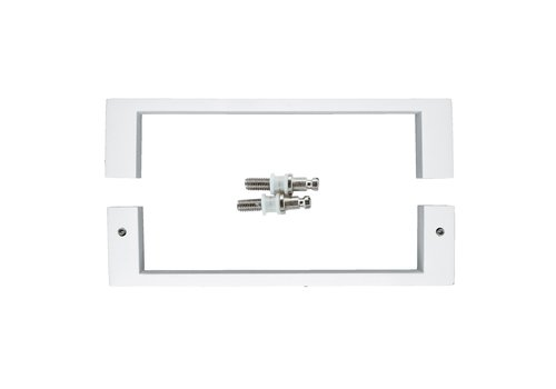 """White door handles """"Cosmic"""" U 20/200 pair for glass"""