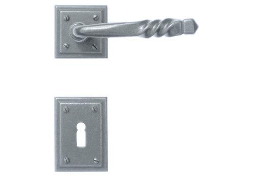 Iron door handles Harmonie Carre with BB