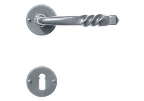 Iron door handles Harmony round with BB