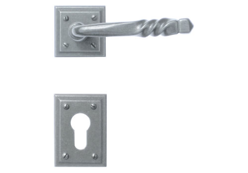 Iron door handles Harmonie Carre with PZ