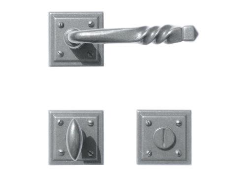 Iron door handles Harmonie Carre with WC