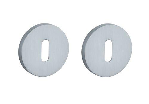 Key plates round Chrome Satin Ø 52x7mm