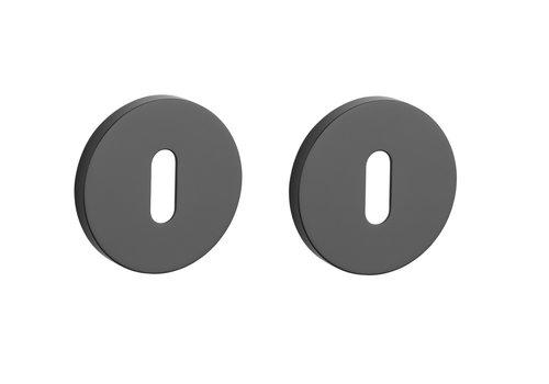 Key plates round Black Ø 52x7mm