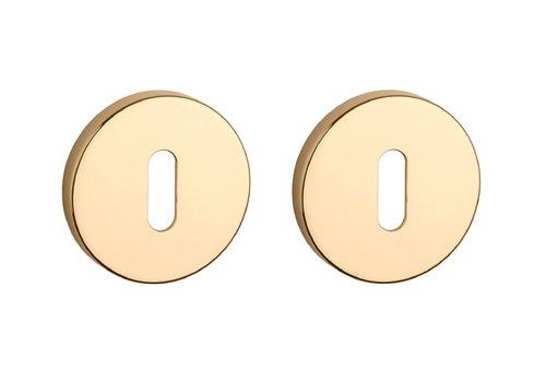 Key plates round Gold PVD Ø 52x7mm