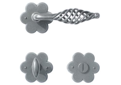 Iron door handles 'Spiralus flower' with WC
