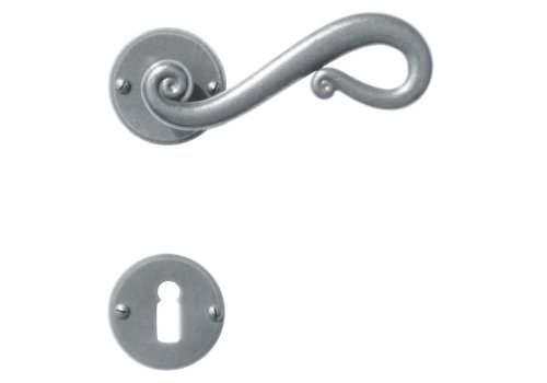 Iron door handles Romana round with BB