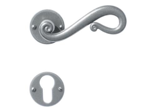 Iron door handles Romana round with PZ