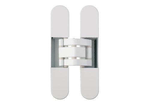 White invisible 3D hinge Otlav IN230