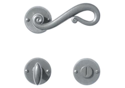 Iron door handles Romana round with PZ - Copy