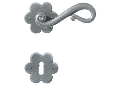 Iron door handles Romana flower with BB