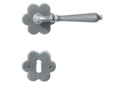 Iron door handles Elegeance flower with BB