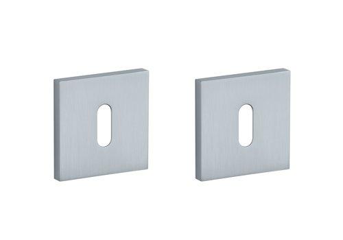 Key plates square Chrome Satin 52x7mm