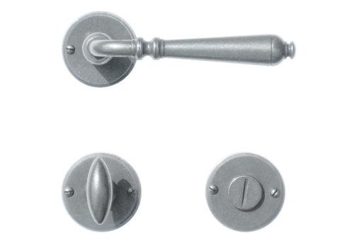 Iron door handles Elegeance round with WC