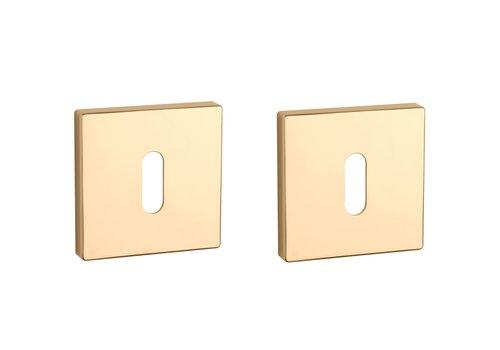 Key plates square Gold PVD 52x7mm