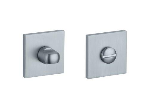 WC set square Chrome Satin 52x7mm