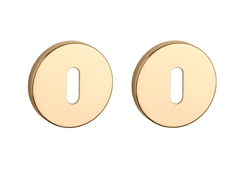 Key plates round Gold polished Ø 52x7 mm