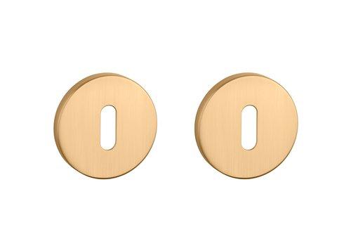 Key plates round matt Gold Ø 52x7 mm