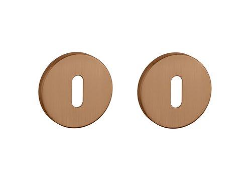 Key plates round matt Copper Ø 52x7 mm