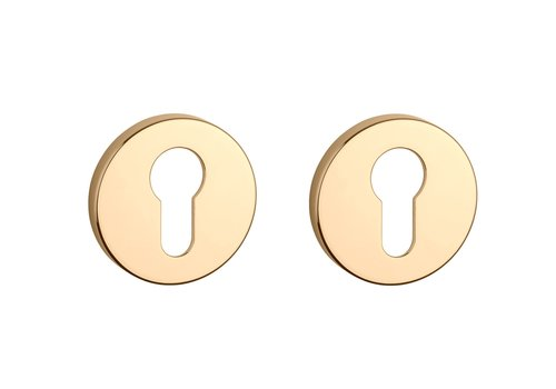 Cylinder plates round gold polished Ø 52x7mm